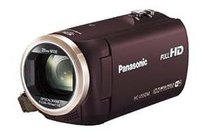 Panasonic デジタルハイビジョンビデオカメラ 内蔵メモリー32GB ブラウン HC-V550M-T