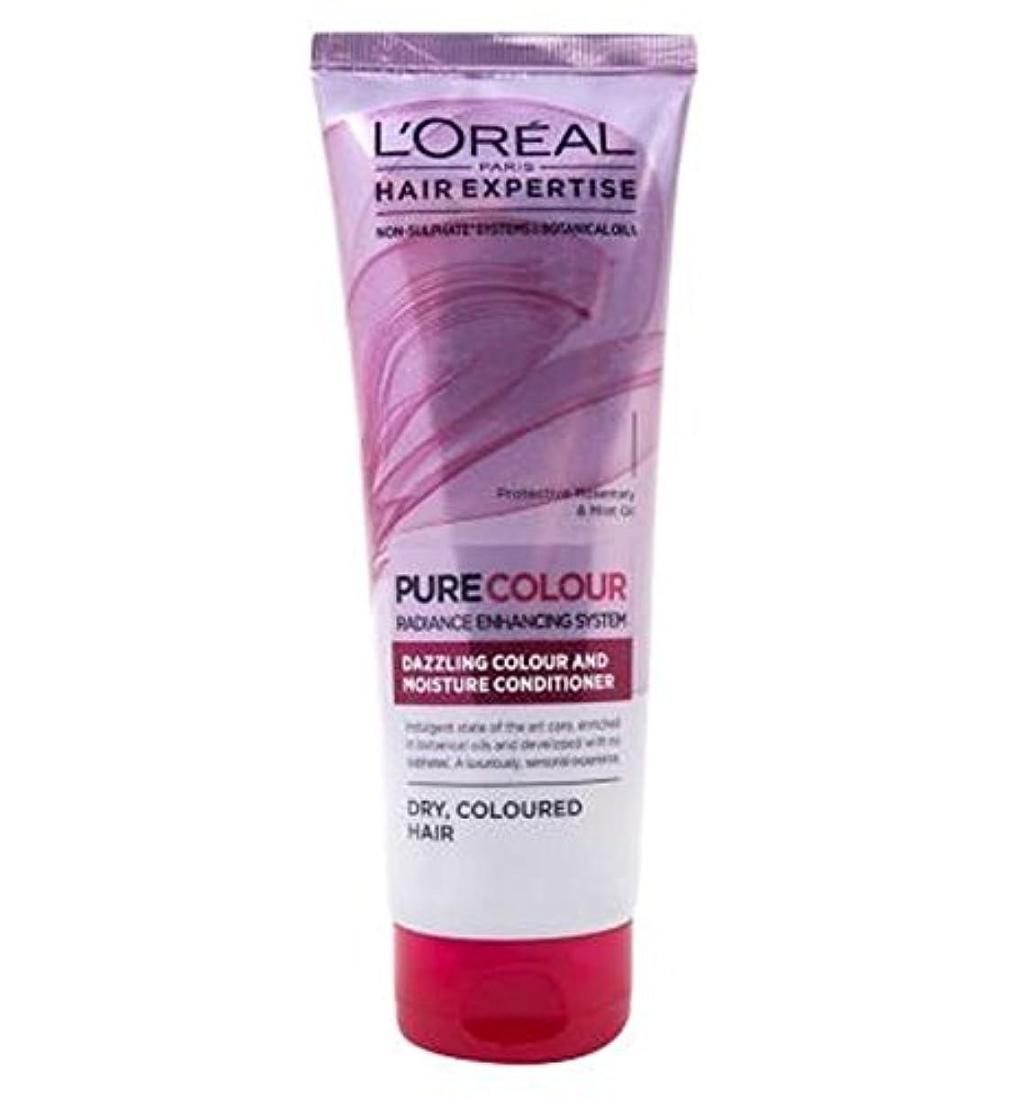量で廃止する技術的なロレアルパリの髪の専門知識の超純粋なカラーケア&水分コンディショナー250Ml (L'Oreal) (x2) - L'Oreal Paris Hair Expertise SuperPure Colour Care &...