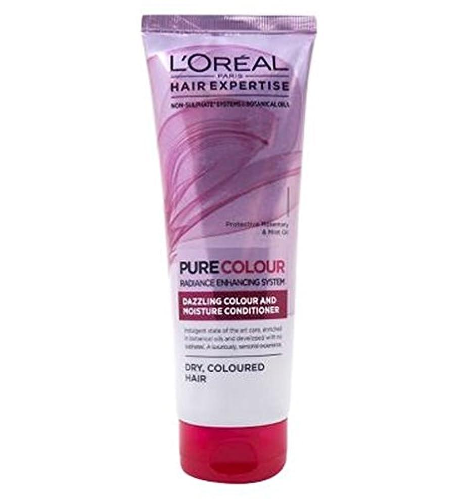 ロープ松明スライムロレアルパリの髪の専門知識の超純粋なカラーケア&水分コンディショナー250Ml (L'Oreal) (x2) - L'Oreal Paris Hair Expertise SuperPure Colour Care &...