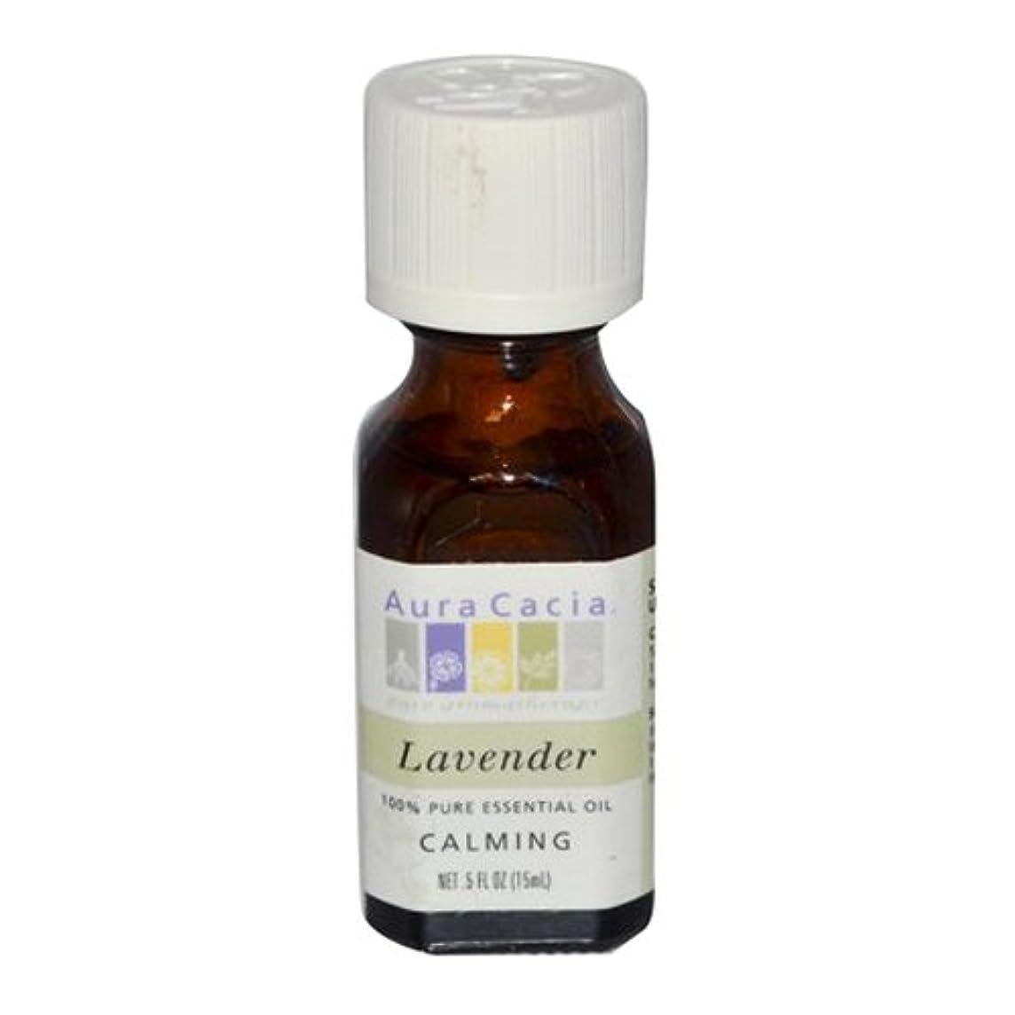 腰ボイコット農業のAura Cacia Lavender Calming Pure Essential Oil 15 ml (並行輸入品)