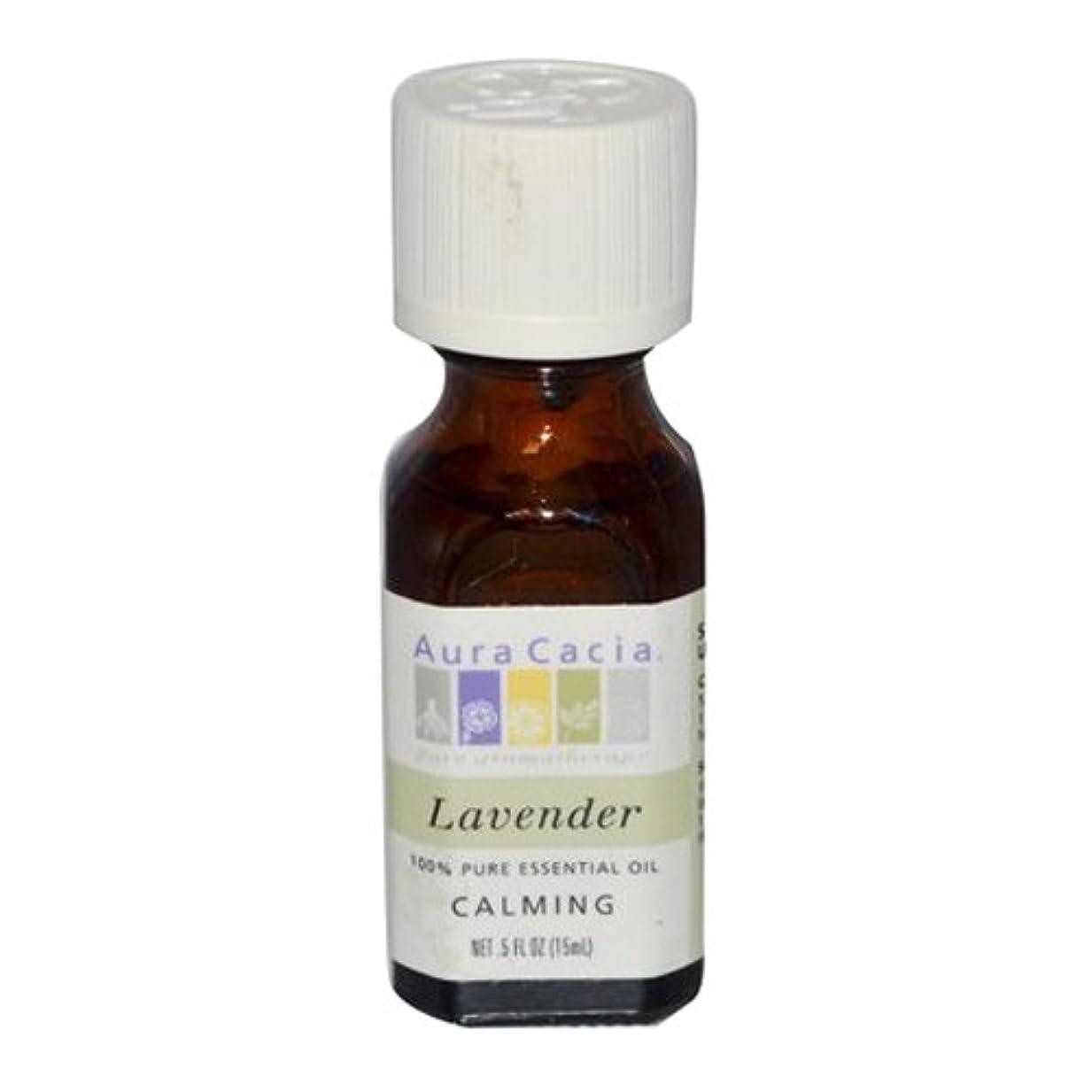 スリップシューズメンダシティ橋Aura Cacia Lavender Calming Pure Essential Oil 15 ml (並行輸入品)