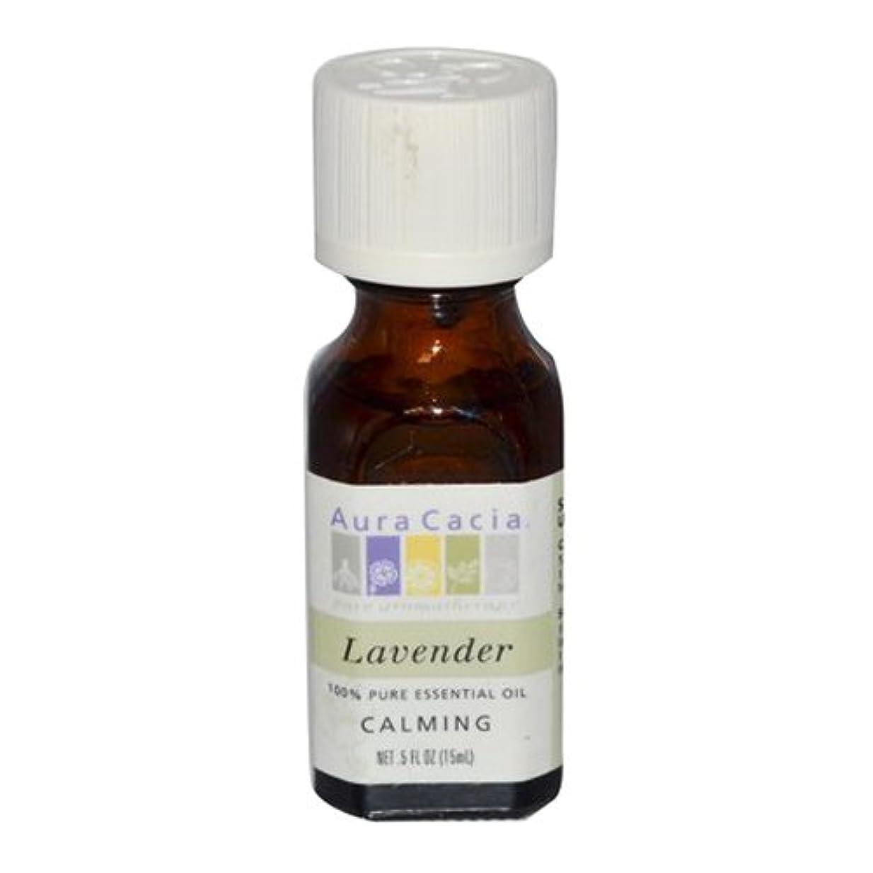 非効率的な率直な不道徳Aura Cacia Lavender Calming Pure Essential Oil 15 ml (並行輸入品)