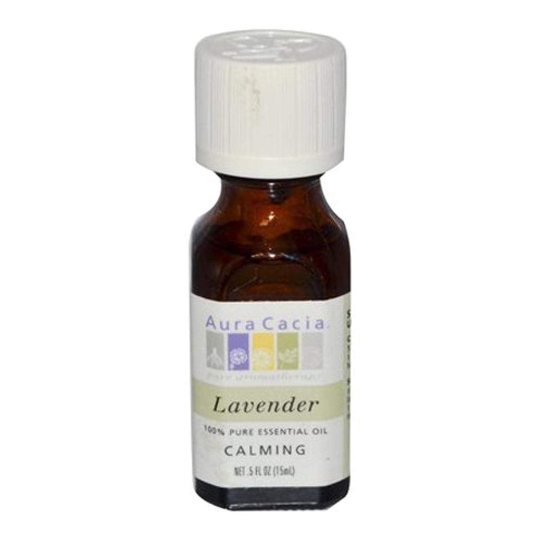 日帰り旅行にステーキクルーAura Cacia Lavender Calming Pure Essential Oil 15 ml (並行輸入品)