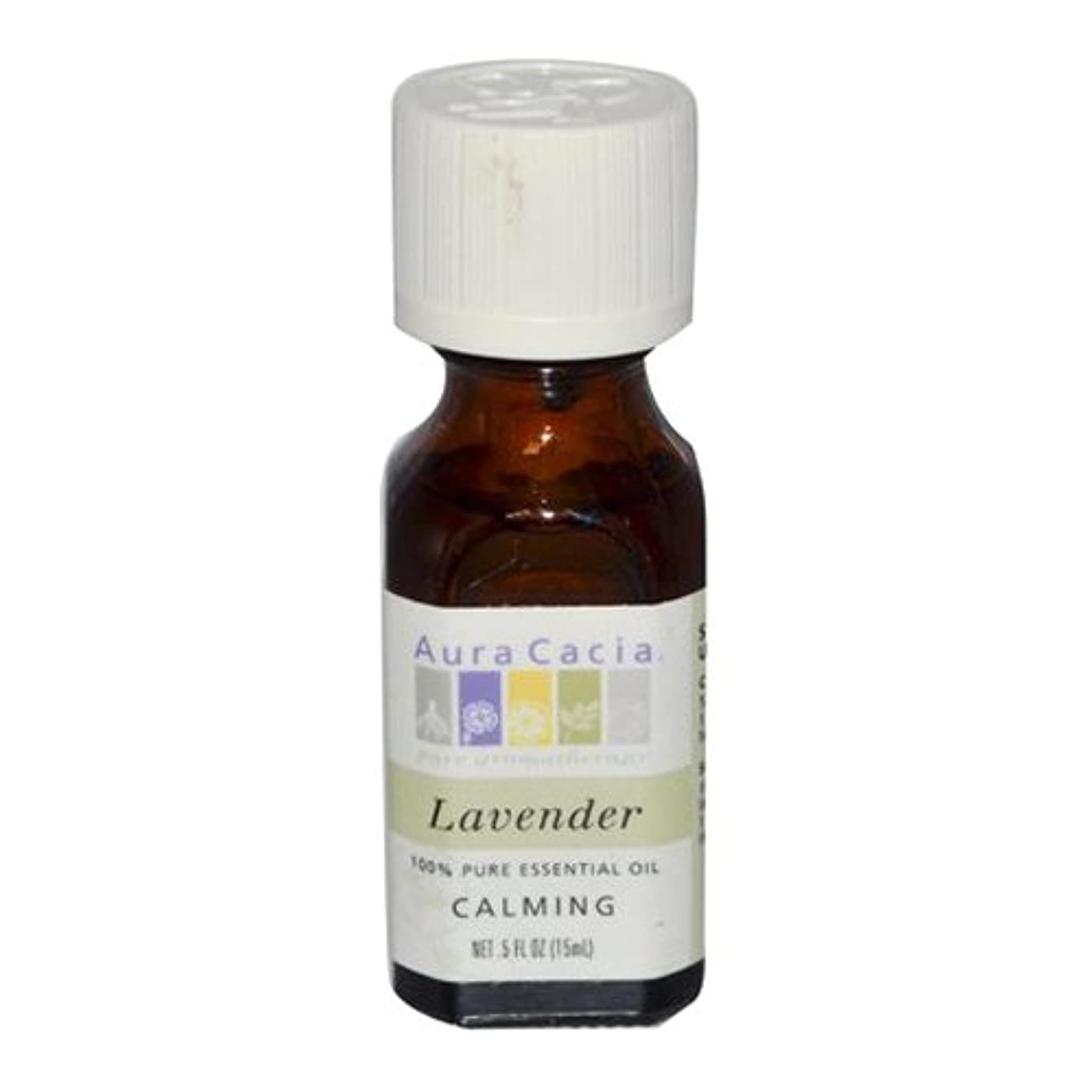 イヤホン職業解くAura Cacia Lavender Calming Pure Essential Oil 15 ml (並行輸入品)