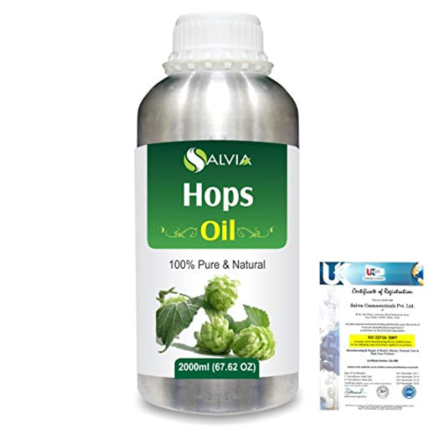 タンパク質狼文庫本Hops (Humulus lupulus) 100% Natural Pure Essential Oil 2000ml/67 fl.oz.