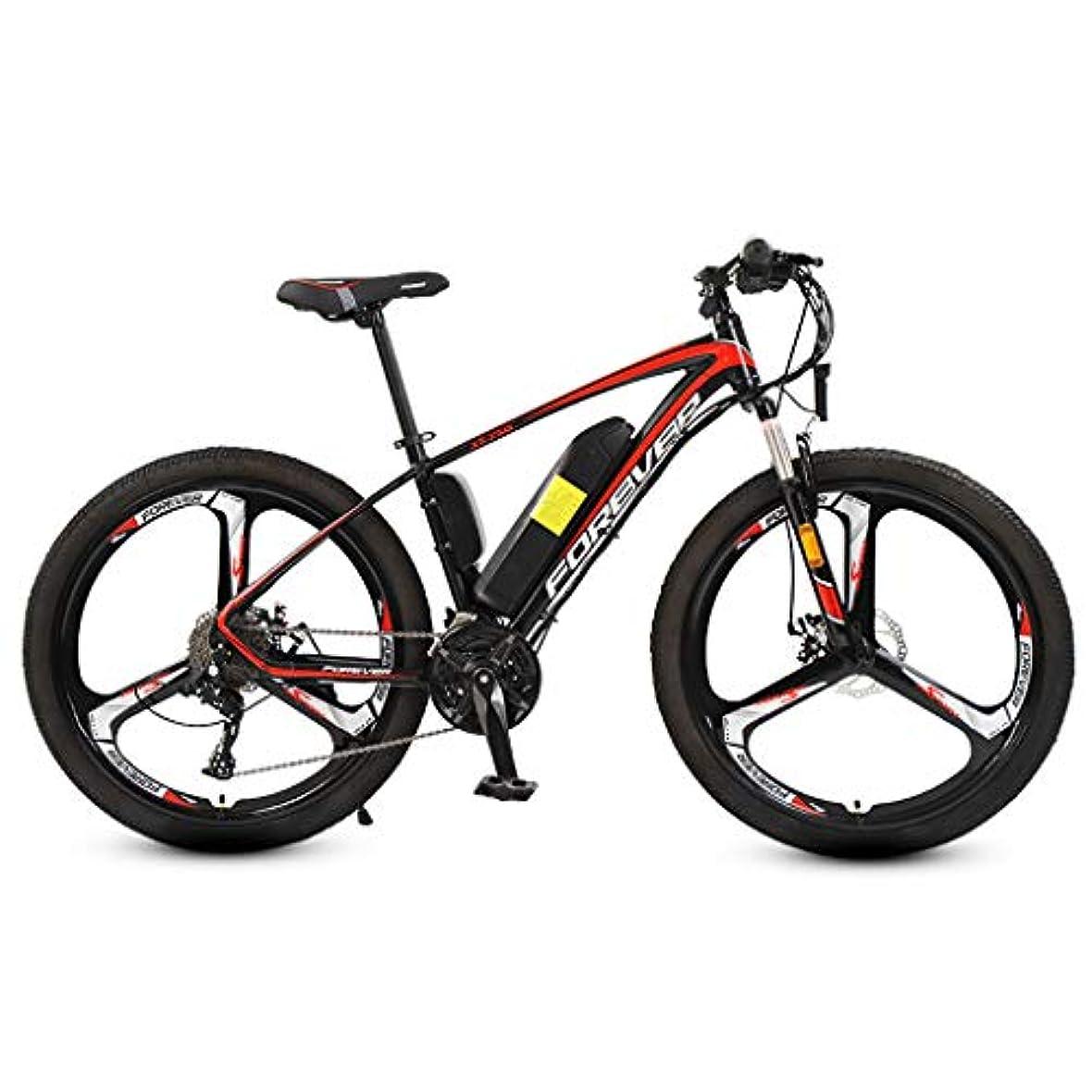 それら魔女ブロッサム26インチの大人のマウンテン電動自転車、36Vリチウム電池250W電動バイク、27スピードアルミ合金オフロード電動自転車,10AH