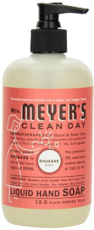 汗素晴らしさ小説家Mrs. Meyer's Clean Day Liquid Hand Soap, Rhubarb, 12.5 Fluid Ounce (Pack of 2) by Mrs. Meyer's Clean Day