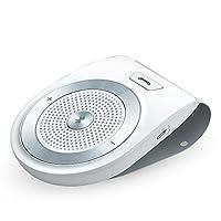 AGPtEK T821 車載用 ワイヤレス Bluetooth ポータブルスピーカー スピーカーホン ハンズフリー通話 音楽再生 ブルートゥース4.1(ホワイト)