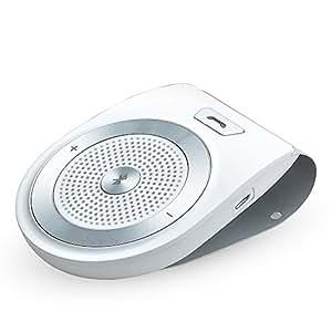 AGPTEK T821 車載用 ワイヤレス Bluetoothスピーカー スピーカーホン ハンズフリー通話 音楽再生 ポータブル カー用品 ブルートゥース4.1(ホワイト)