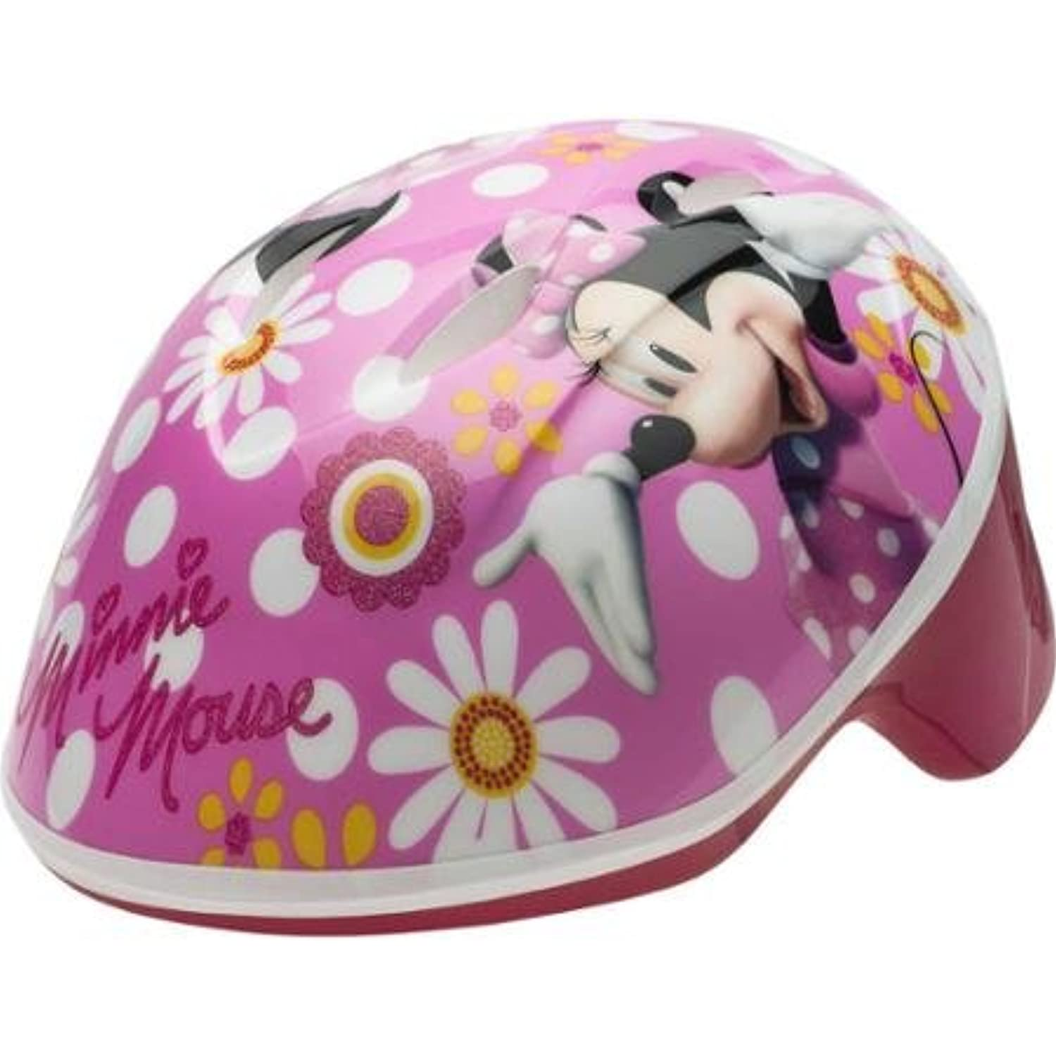 Disney Minnie Mouse Self-Adjust Toddler Helmet With High-Impact Reflectors For Visibility, For 3 Years And Up, Pink by Generic