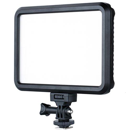 Excelvan 超薄 LED 撮影/ビデオライト タッチパネル 1200LM 色温度/輝度調整 CRI≥95% Nikon Canon対応 PT-12B