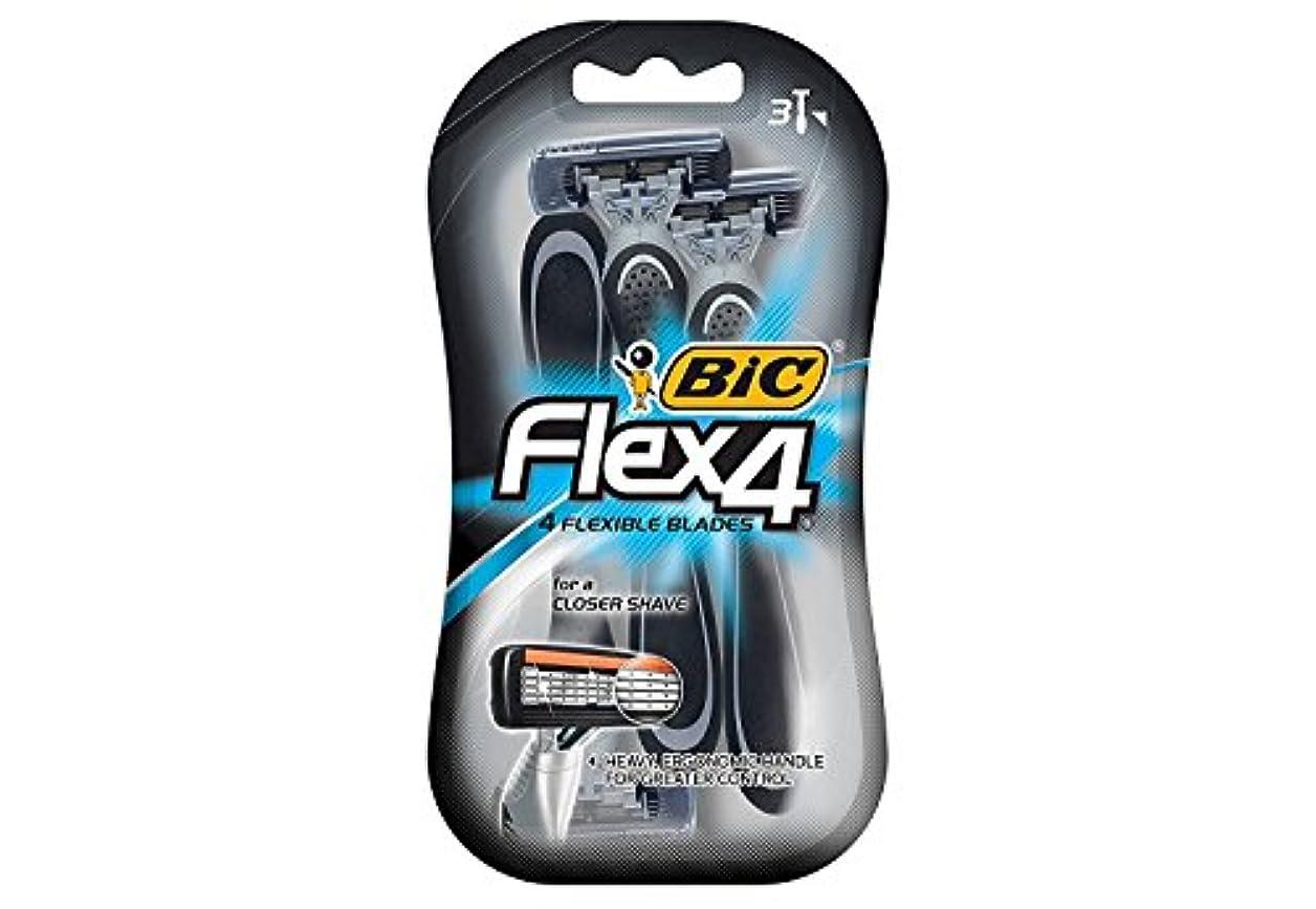 慣らす決済ゴシップ海外直送品Bic Flex 4 Disposable Shavers, 3 each by Bic