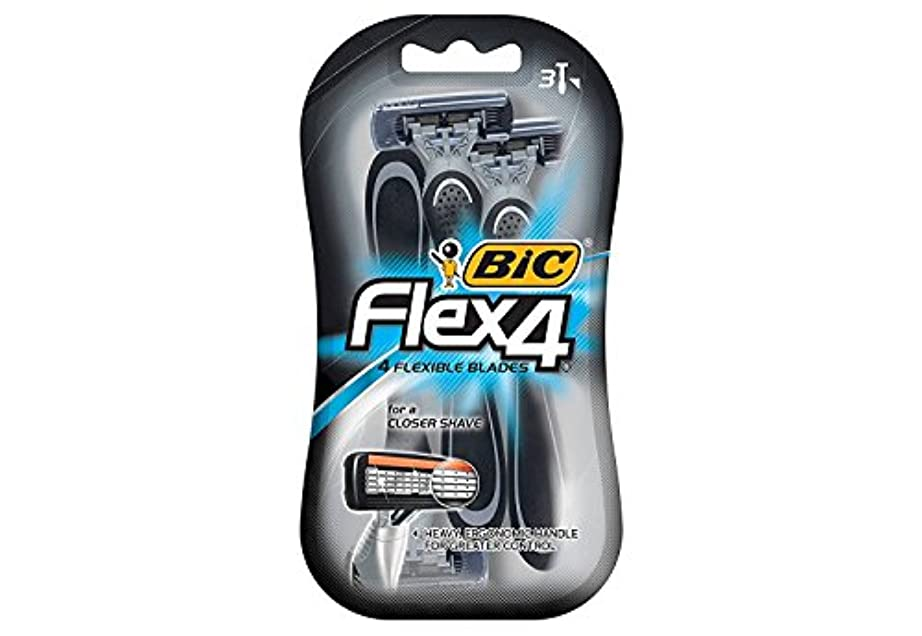 機関正統派パイロット海外直送品Bic Flex 4 Disposable Shavers, 3 each by Bic