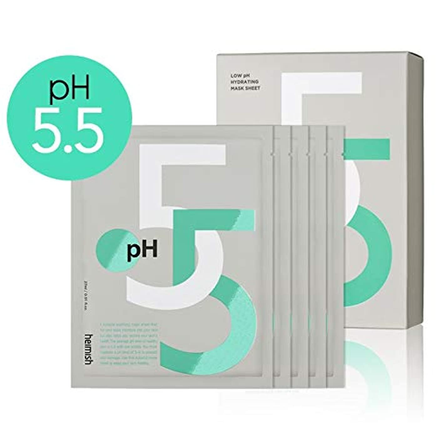 フラフープドライ後[Heimish] Low pH Hydrating Mask Sheet 27ml (5ea) /[ヘイミッシュ] Low pH ハイドレイティング マスクシート27ml (5枚) [並行輸入品]