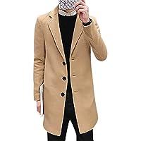 BOZEVON Winter Coats for Men - Autumn and Winter Men's Coat Slim Fashion Lapels Jacket
