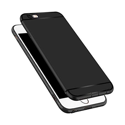 Okey iphone6plus/iphone6Splusケース TPUソフトケース 衝撃吸収カバー 高品質TPU 指紋防止 軽量 柔軟 超薄 おしゃれ (黒) …