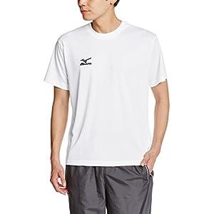 [ミズノ]トレーニングウェア 半袖Tシャツ Uネック ナビドライ ホワイト×ブラック 日本 2XL (日本サイズ2L相当)