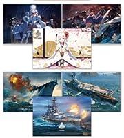 アズールレーン World of Warships 新春シールラリー おみくじ景品 ポストカード 2種(計6枚)セット
