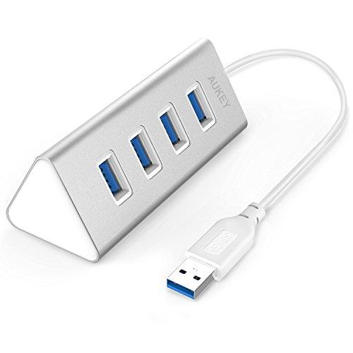 AUKEY USB3.0 ハブ 4ポート USBハブ バスパワー 軽量 コンパクト アルミニウムハブ CB-H31