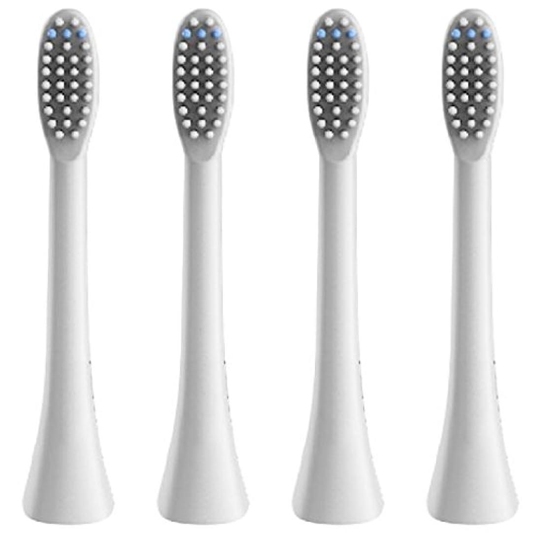 マーケティングキャンパス心のこもった(正規品)InfinitusValue スマートトラッキング電動歯ブラシ専用替えブラシ レギュラーサイズ 4本組 ホワイト IVHB01WBR4