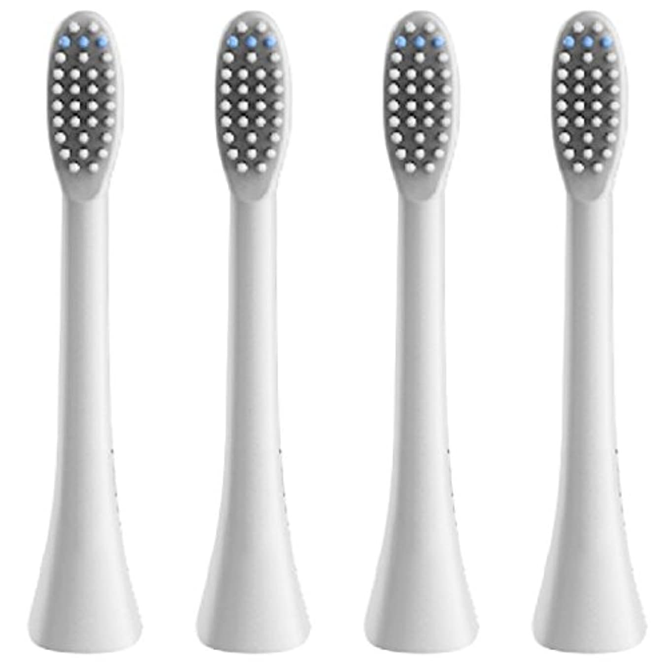ペッカディロ頂点卵(正規品)InfinitusValue スマートトラッキング電動歯ブラシ専用替えブラシ レギュラーサイズ 4本組 ホワイト IVHB01WBR4