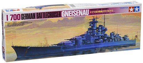 タミヤ 1/700 ウォーターラインシリーズ No.802 ドイツ海軍 巡洋戦艦 グナイゼナウ プラモデル 77520