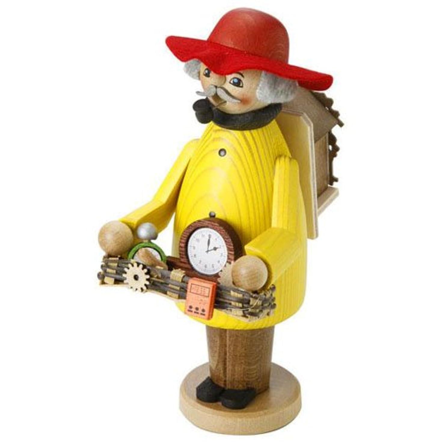 通り光電算術kuhnert ミニパイプ人形香炉 時計売り
