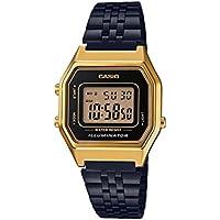CASIO Vintage Retro Series Black Gold Classic Digital Ladies Watch LA680WEGB-1A