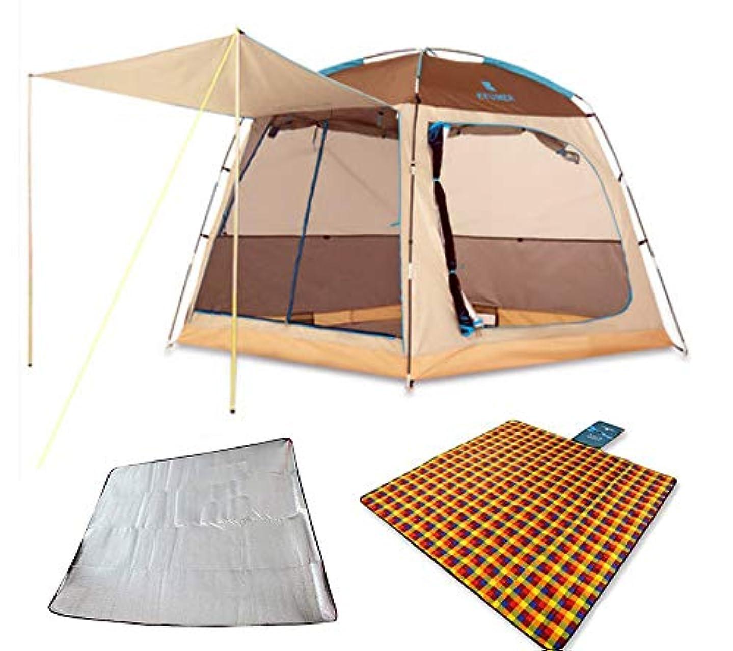 タックル記事反論KEUMER 前室付き キャンプテント 210*210*175cm 3-5人用 UVカット 高耐水 通気性抜群 アウトドア 公園 キャンピングテント