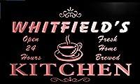 LED看板 ネオンプレート サイン 電飾 看板 カフェ バー pc1936-r Whitfield's Home Kitchen Open Bar Neon Sign