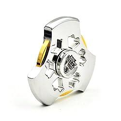 MixMart スピナー 鏡面研磨 4-7分回転 ハンドスピナー 指スピナー MagicShark フィジェットスピナー ステンレススチール Fidget Spinner 暇つぶし Hand Spinner 指遊び セラミックのボールベアリング TimeMachine