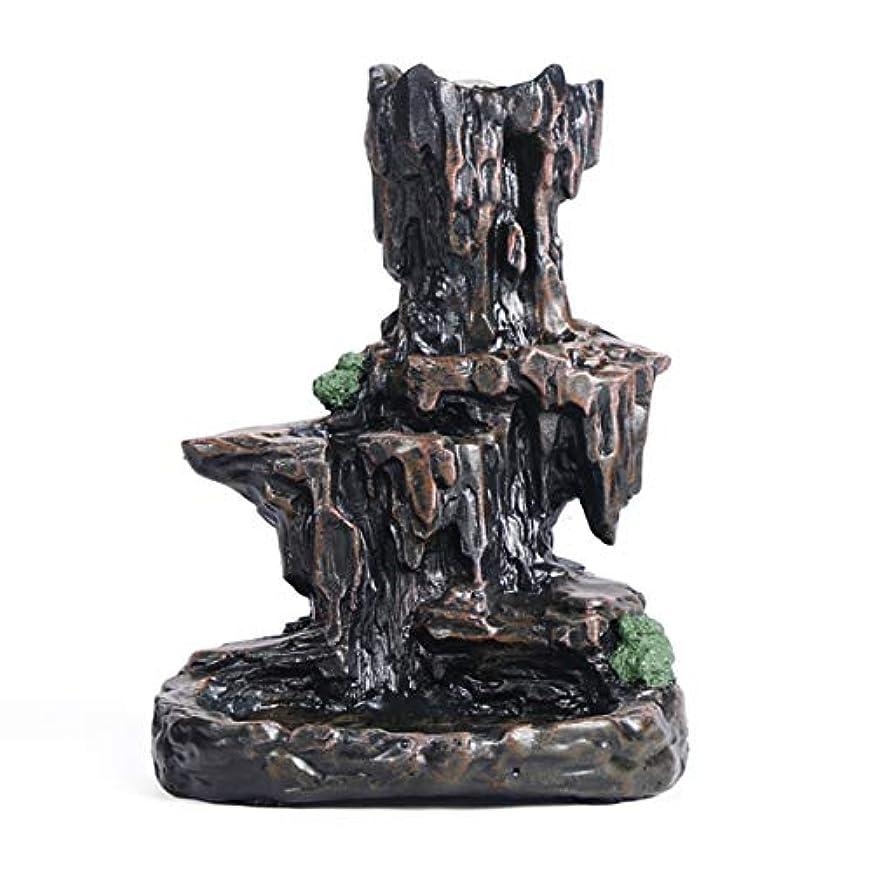 逆流香バーナー香スティックコイルホルダーRockeryマウンテンストリーム香りの香炉の装飾
