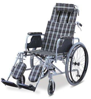 ガーデン 高性能リクライニング&脚部エレーべーティング式車椅子 SGマーク認定工場製品 リクライニング アルミ製 車椅子 折りたたみ エレべーティング 転倒防止バー