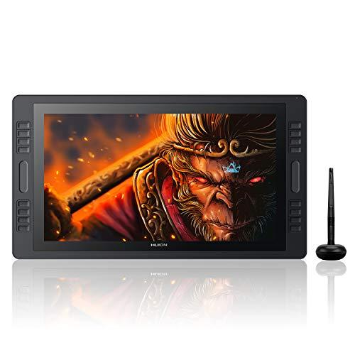 HUION KAMVAS PRO 20 GT-192 傾き検知 液晶タブレット 19.5インチ 液タブ ショートカットキー タッチバー 付き AGガラス 1920x1080HDスクリーン