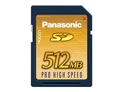512MB Panasonic パナソニック SDメモリーカード PRO HIGH SPEED 最大20MB/s 日本製 カードケース付 バルク RP-SDK512J1A-BLK