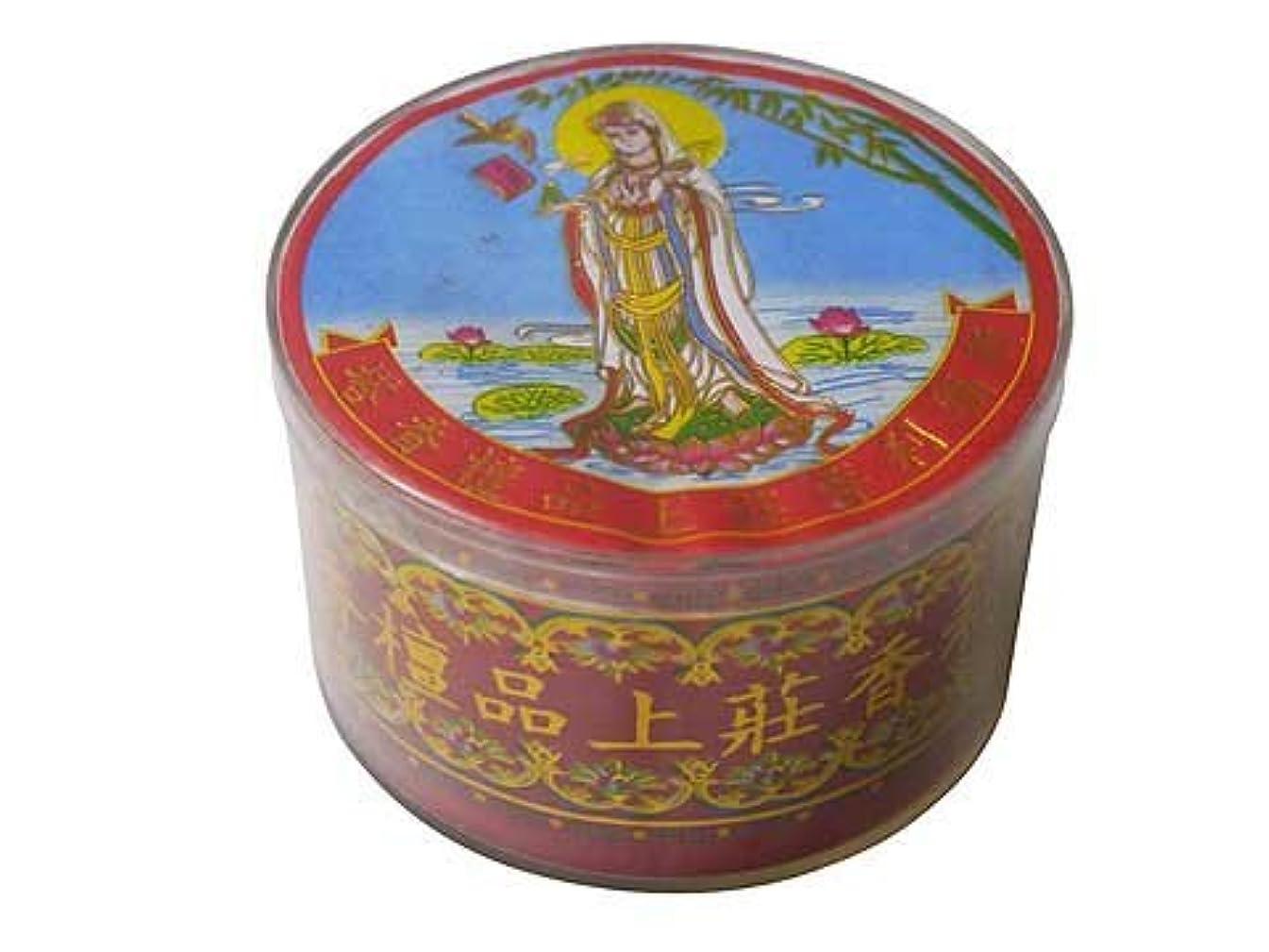 七時半フィドル免疫Vietnam Incense ベトナムのお香【観音様ラベル渦巻き檀香】