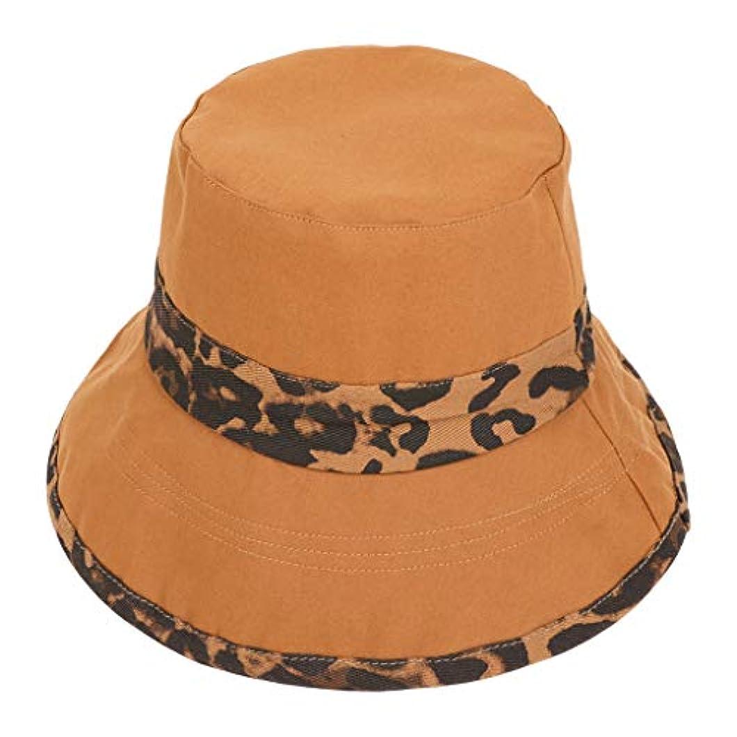 地獄ハンディキャップ砂利帽子 ハット 女性夏旅行ボヘミアン帽子ビーチ太陽の帽子ヒョウ流域キャップ