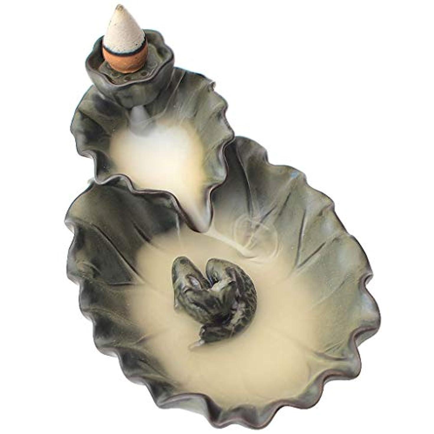 ダーベビルのテスロマンストークン芳香器?アロマバーナー 逆流香バーナーホームビューイングホームリビングルームの装飾ロータス禅アロマテラピー炉 アロマバーナー (Color : TANSEI)