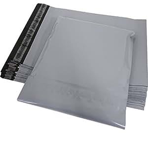 100枚入り 宅配ビニール袋 厚み60ミクロン  LDPE スカイグレイ 強力テープ付