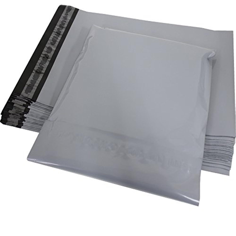 500枚入 宅配ビニール袋 厚み80ミクロン LDPE B5サイズ スカイグレイ&ブラック 強力テープ付