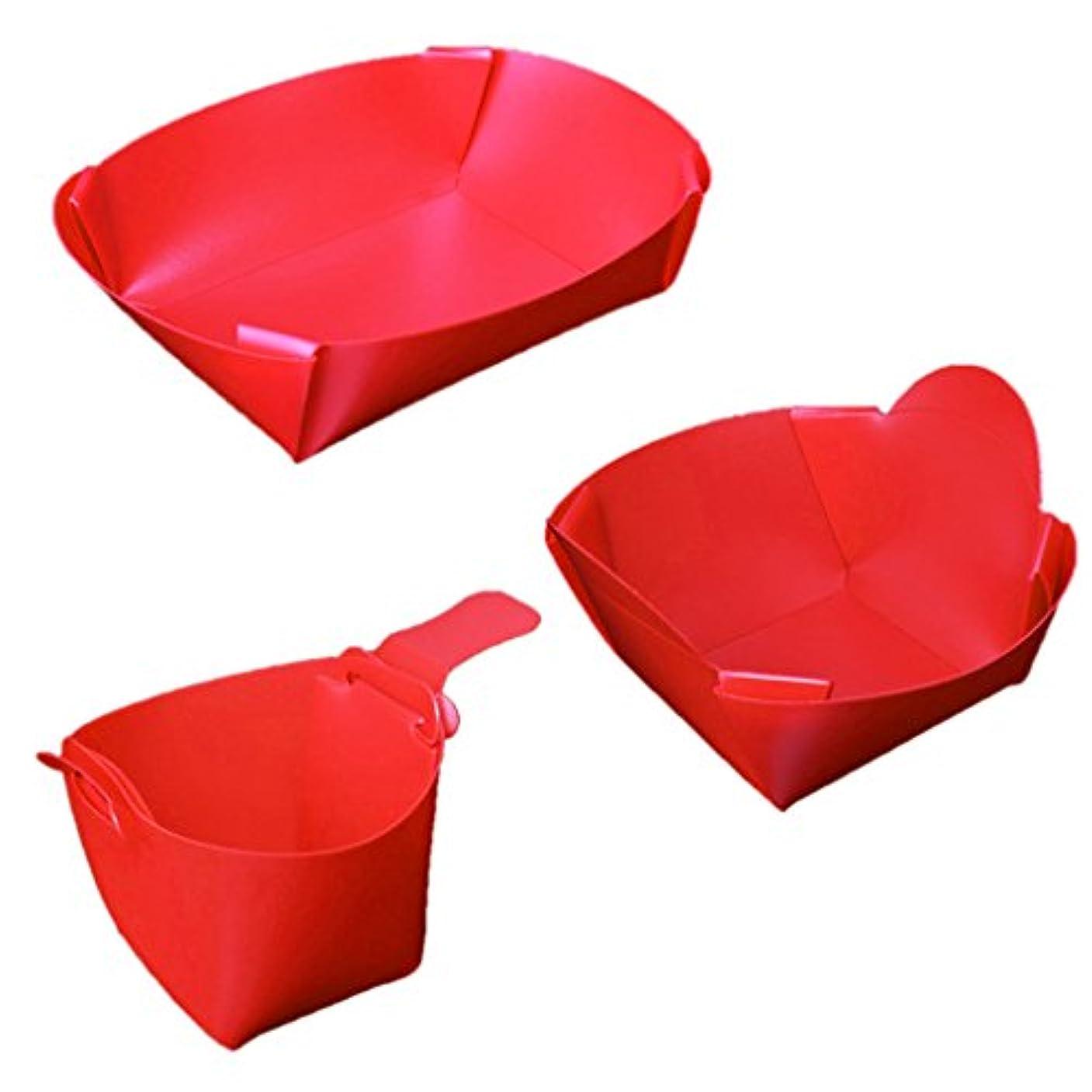 ディプロマ適性枯れるSunniMix ピクニック キャンプ用 食器 折り畳み式 軽量 旅行キット プレート ボウル カップ 3つ