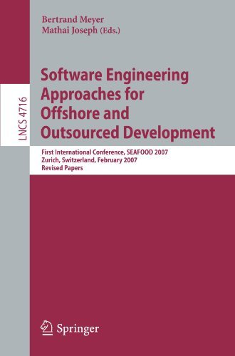Software Engineering Approaches for Offshore and Outsourced Development: First International Conference, SEAFOOD 2007, Zurich, Switzerland, February 5-6, ... / Programming and Software Engineering)の詳細を見る