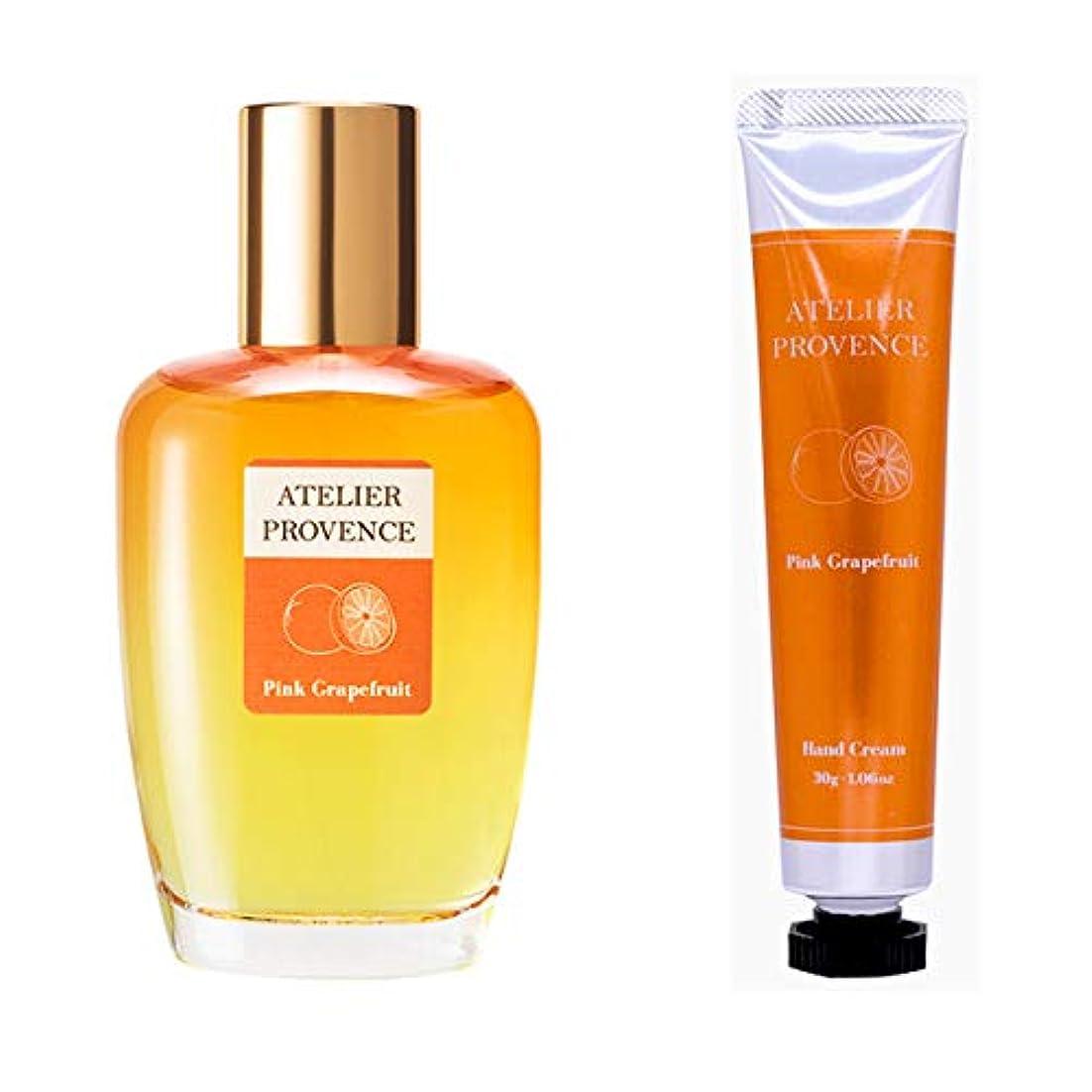カウンタ依存ファランクスアトリエ プロヴァンス ATELIER PROVENCE ピンクグレープフルーツの香り コフレセット(EDT90ml+ハンドクリーム30g)