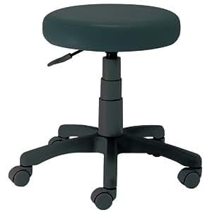 ナカバヤシ オフィスチェア 丸椅子 キャスター付き ラウンドチェア ブラック RZR-112BK