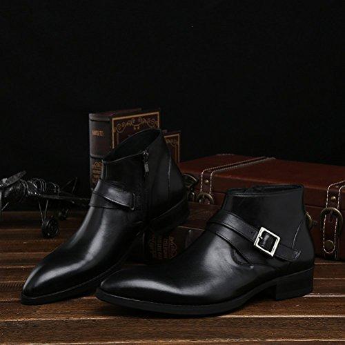 【ブラック】【サイズ:26(42)】本革 ジョッパー プレーン サドル 紳士靴 快適 上質な 革靴 ショートブーツ サ