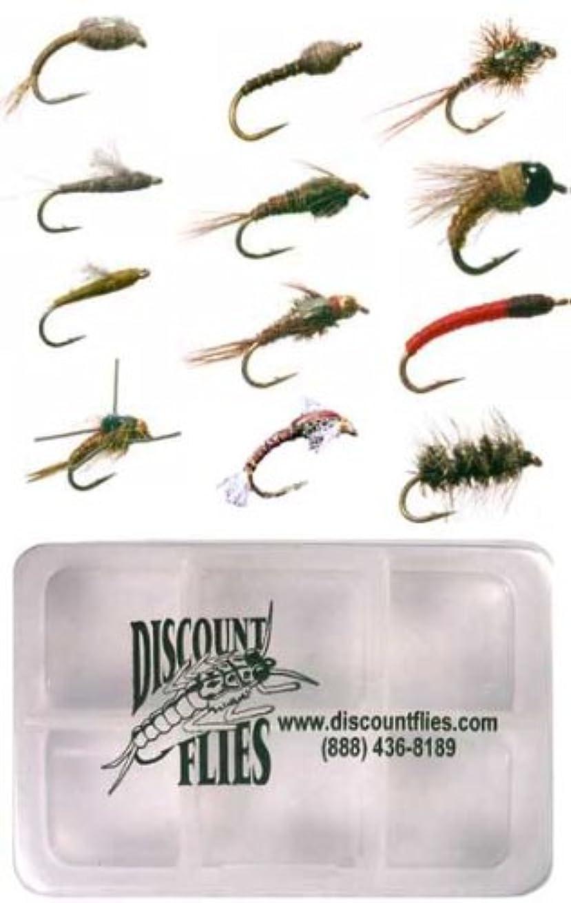 徒歩で理論的扇動するMidge Flyコレクション – 12 Trout Flies +フライボックス