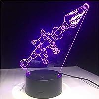 KLSOO 3D ランプ ゲーム ロケット ランチャー グライディング LED ナイトライト 7色変化 タッチムードランプ