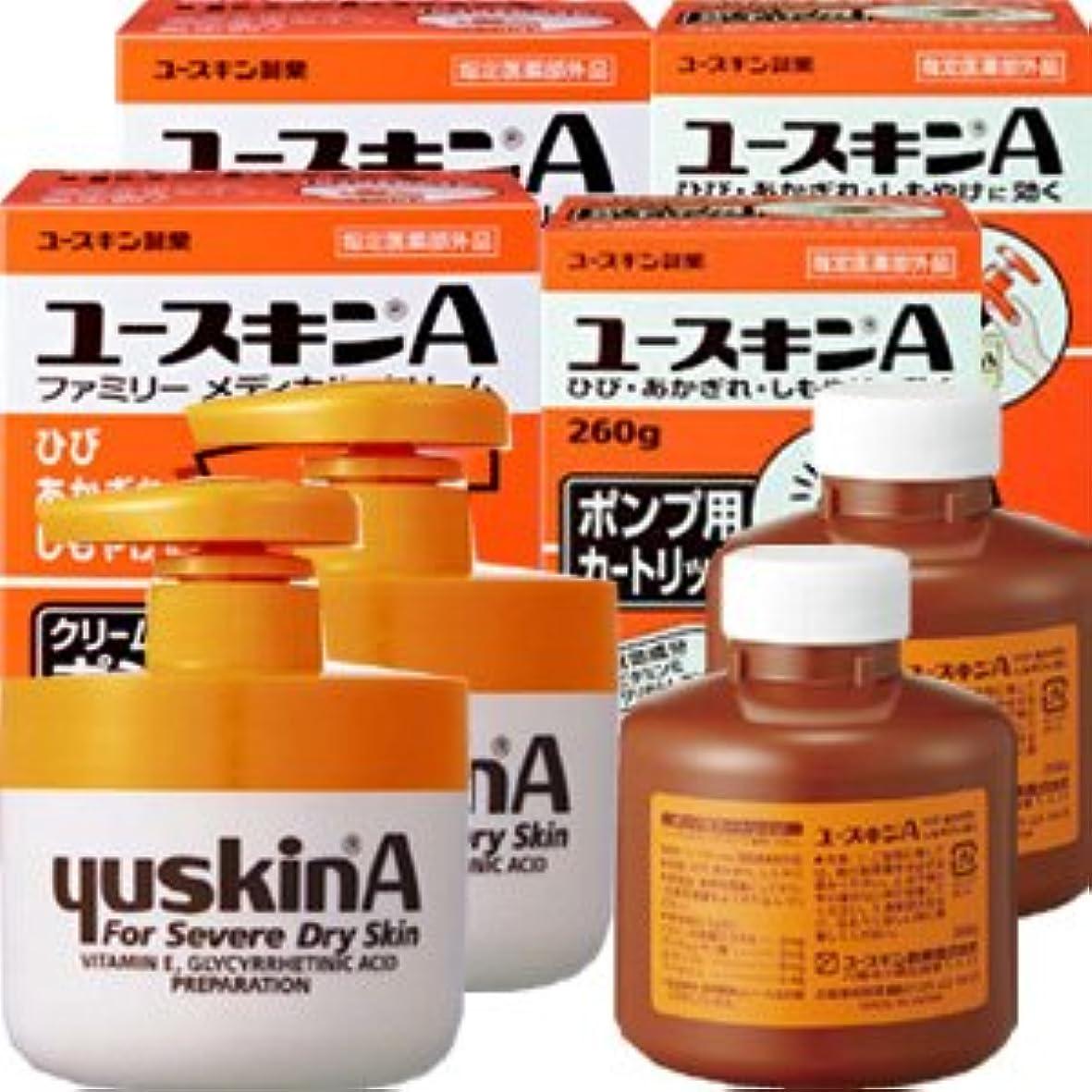 以下計り知れない広告するユースキンA ポンプ 260gx2個+カートリッジ260gx2個 本体2個と詰替え2個セット