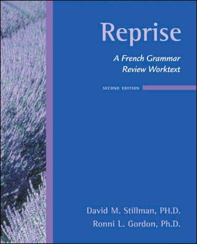 Download Reprise:  A French Grammar Review Worktext 0073535419