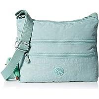 Kipling Alvar Bag, Adjustable Crossbody Strap, Zip Closure, Fern Green Tonal